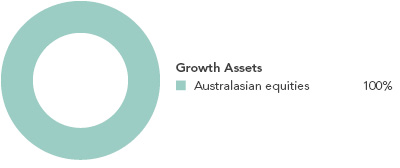 Australian Growth Fund Target investment mix
